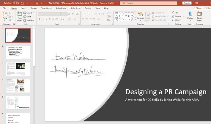 screenshot of a powerpoint show